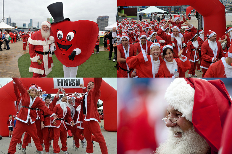 The Variety Santa Fun Run 2011, Melbourne, Australia