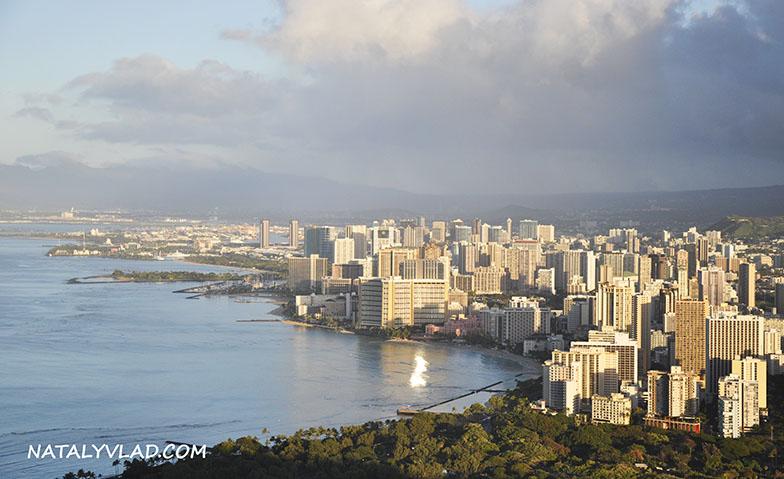 2013-02-07 - Гонолулу на рассвете, вид с Diamond Head, Гавайи