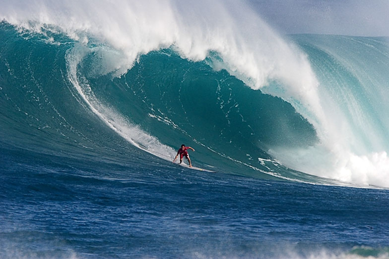 Серфинг, залив Ваймеа, остров Оаху, Гавайи