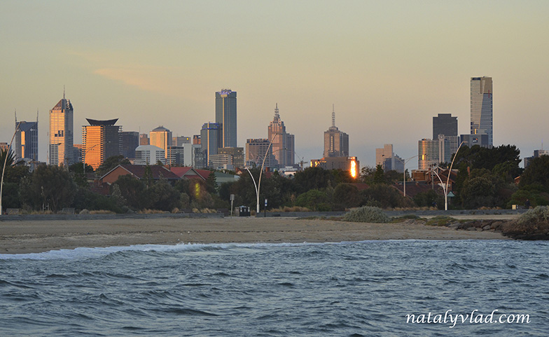 Закат в Мельбурне, Австралия