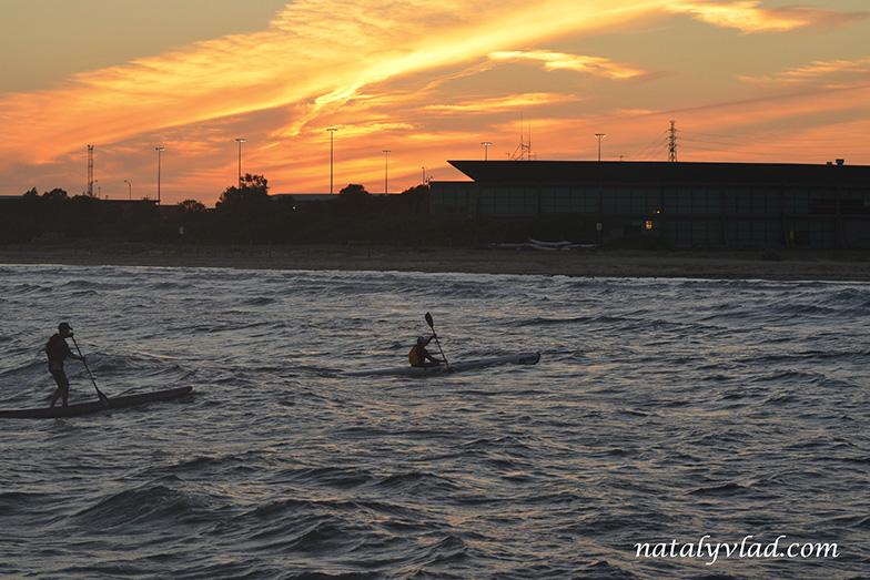 Paddling, Outlaw Crit Series, Sandridge Beach, Port Melbourne