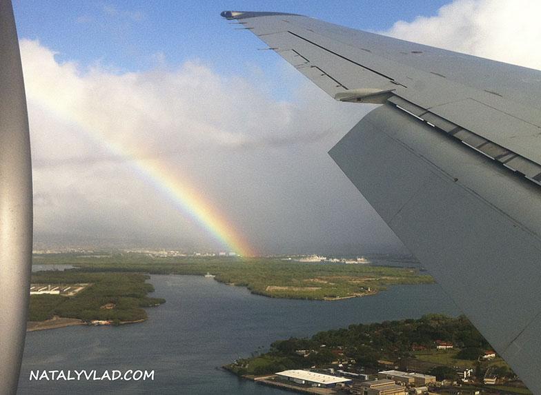 Гавайские острова и радуга