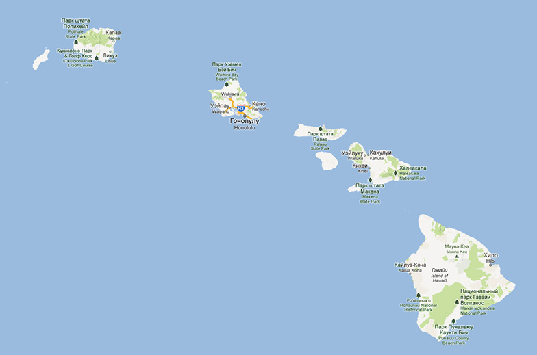 Map - Hawaii