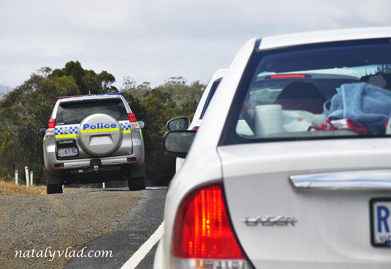 Полицейская машина, Тасмания, Австралия