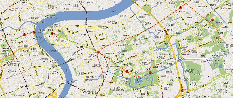 Китай Шанхай Карта