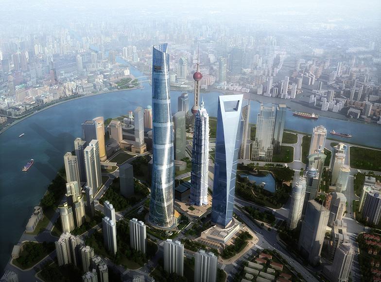 Небоскребы в Шанхае
