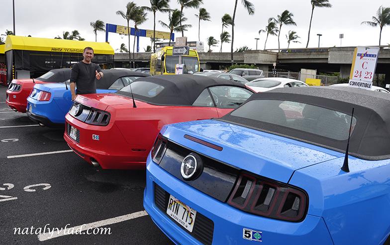 Hawaii car Ford Mustang
