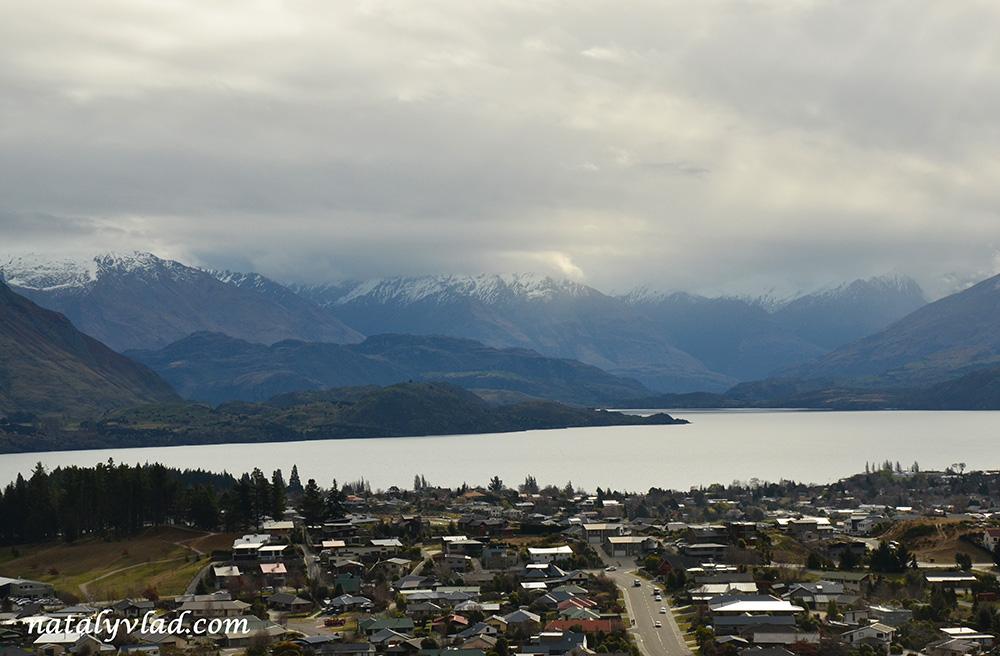 Ванака, виды с горы Mount Iron, Новая Зеландия