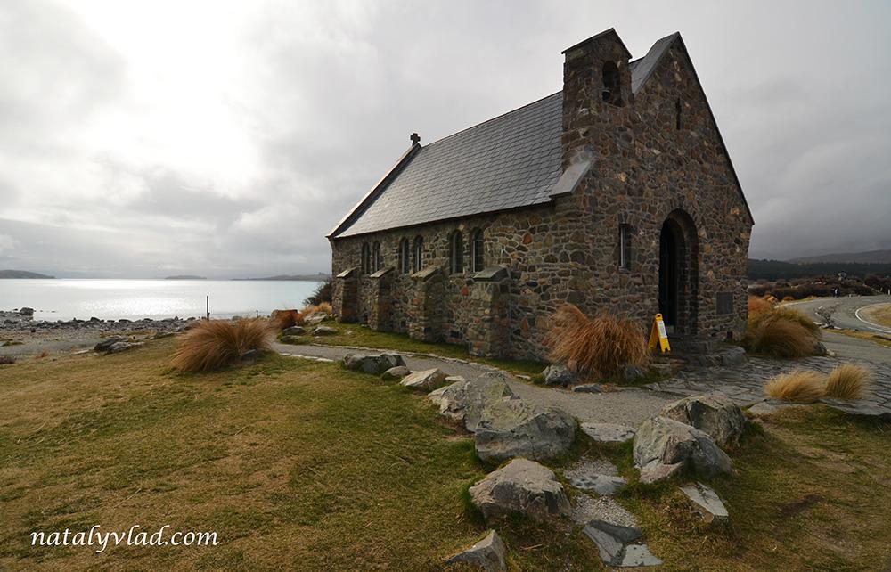 Церковью Доброго Пастыря, Озеро Текапо, Новая Зеландия