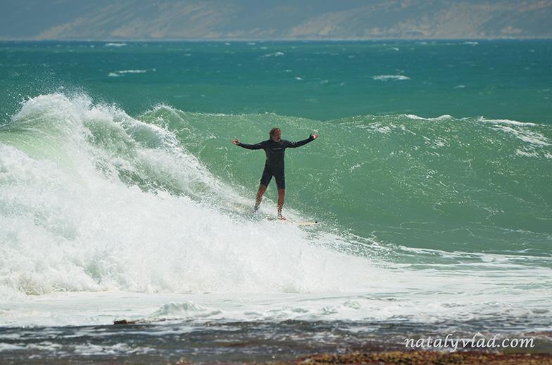 Surfing in Kalbarri, Western Australia