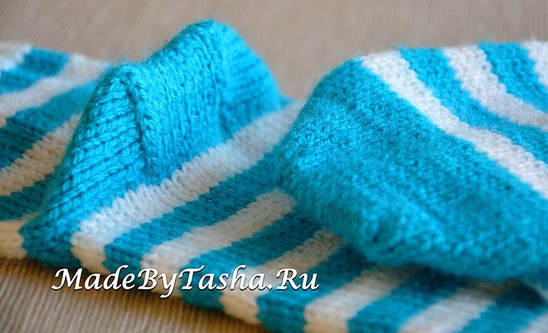 Носки полосатые вязаные | Подарок мальчику