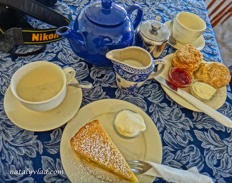 Кафе, Чай, Сконсы, Яблочный пирок, Сливки   Блог об Австралии