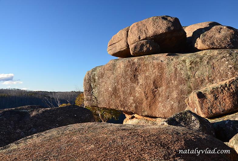 Австралия Намаджи парк Square Rock Смотровая площадка