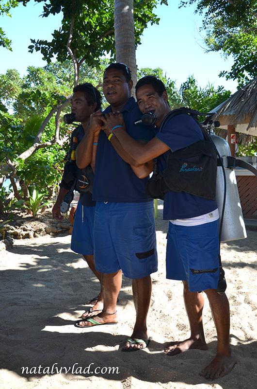 Фиджи отдых, Дайвинг инструктор снаряжение, Острова Фиджи пляж