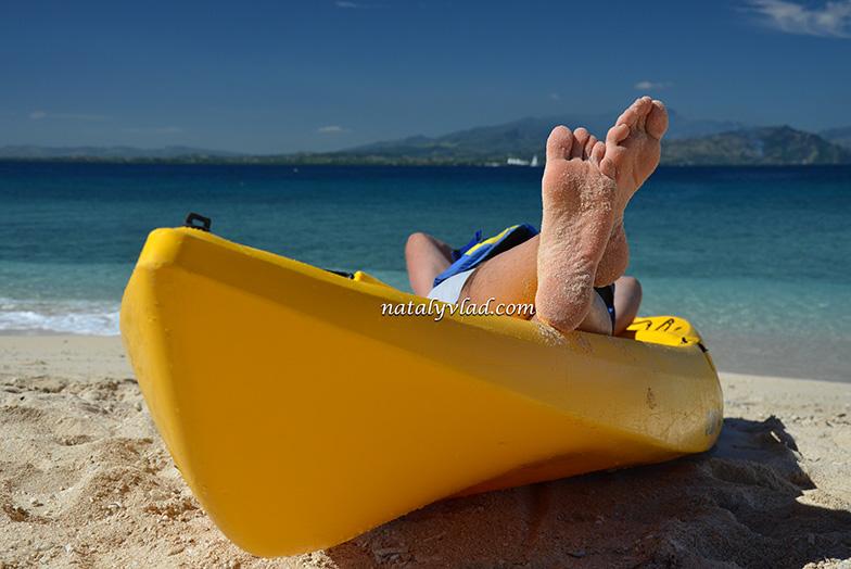 Фиджи, Пляж каяк море солнце, Острова Фиджи