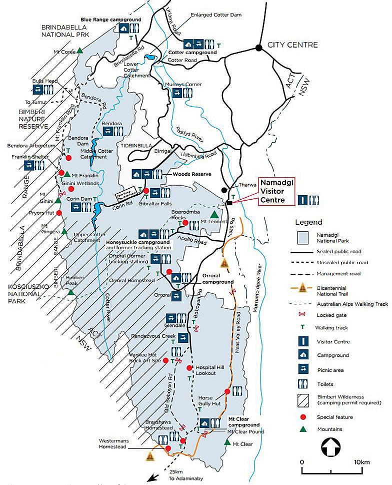 Карта Намаджи национальный парк Австралия Канберра