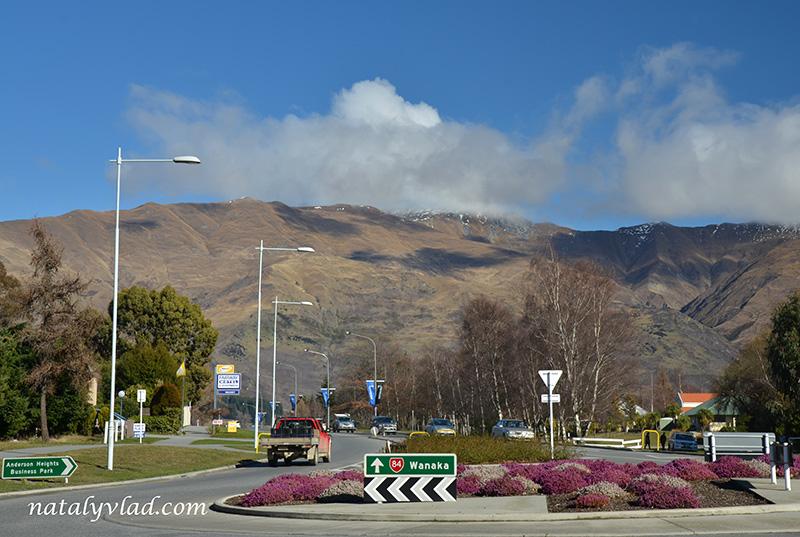 Новая Зеландия отдых Ванака улицы горы