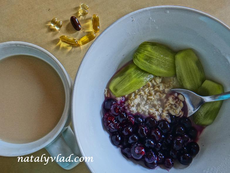 Сброс веса Завтрак овсяная каша