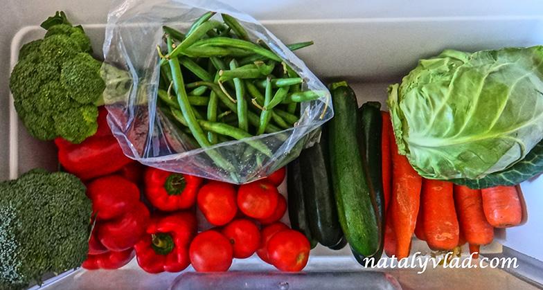 Правильное питание Свежие овощи Холодильник