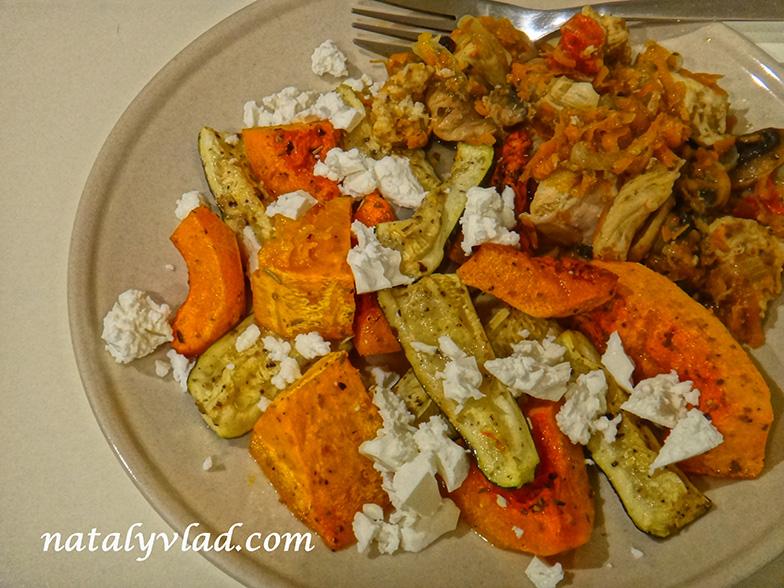 Сброс веса Правильное питание Ужин Запеченные овощи