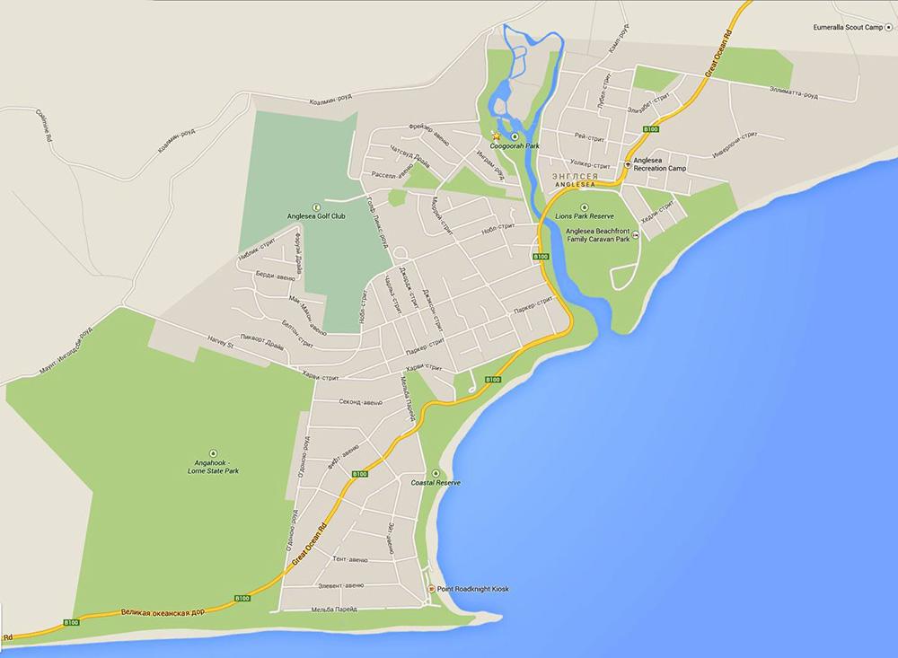 Anglesea map