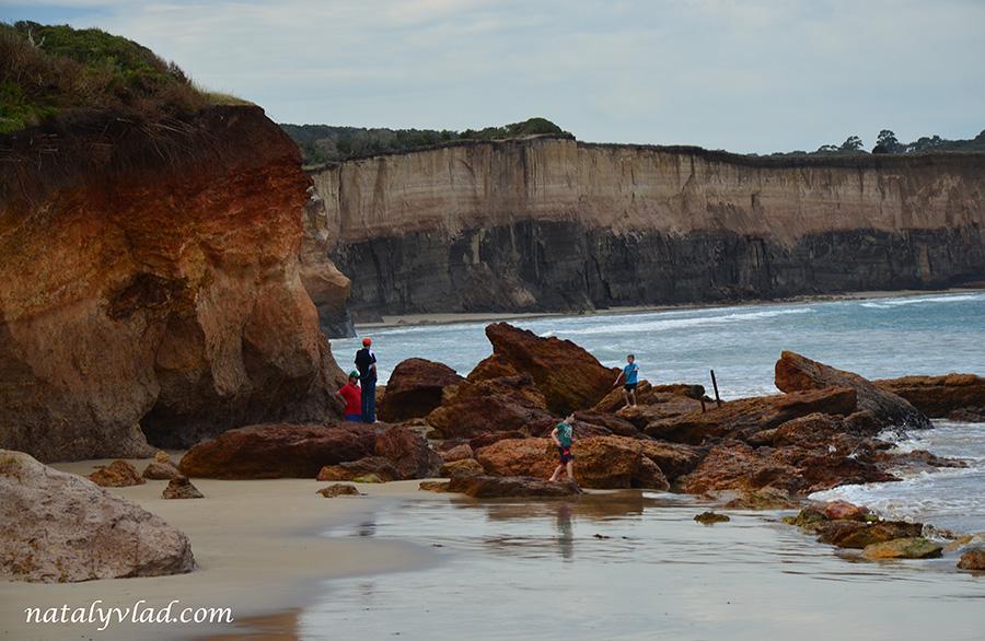 Побережье океана в Австралии Пляж