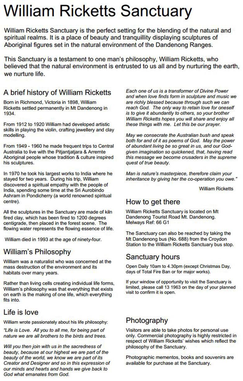 Australia William Ricketts info