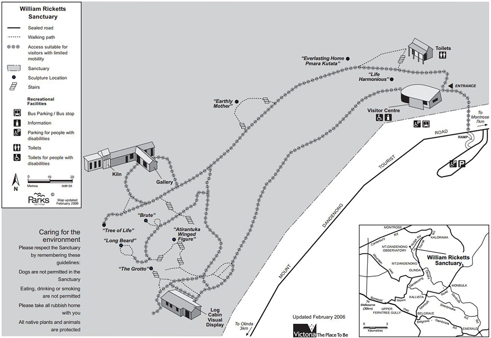 Australia William Ricketts Sanctuary Map