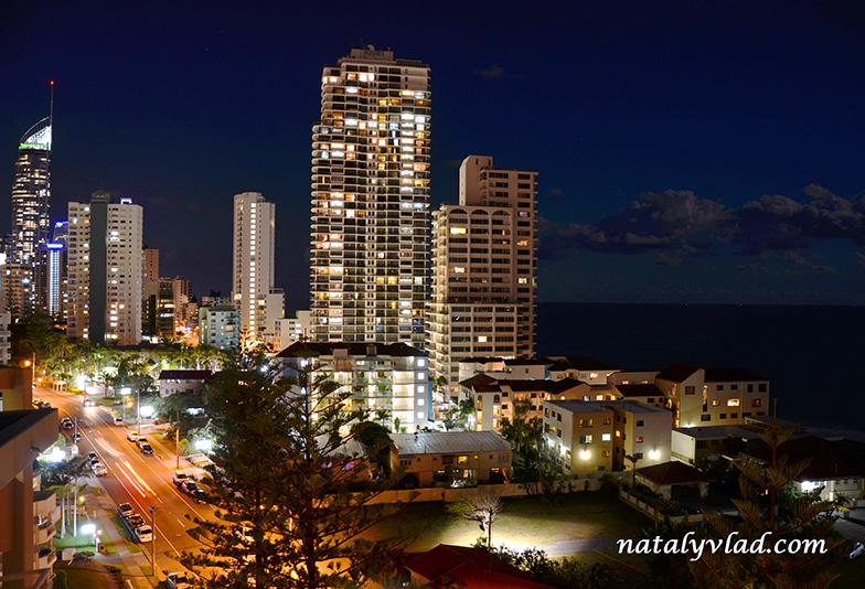 Голд Кост Австралия Золотое побережжье Виды с крыши жилого здания