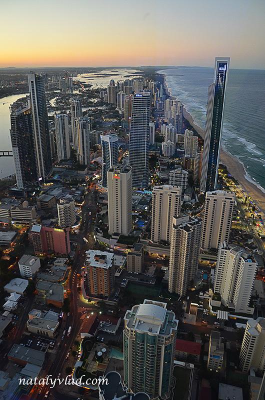 Голд Кост Австралия Золотое побережжье Виды с небоскреба