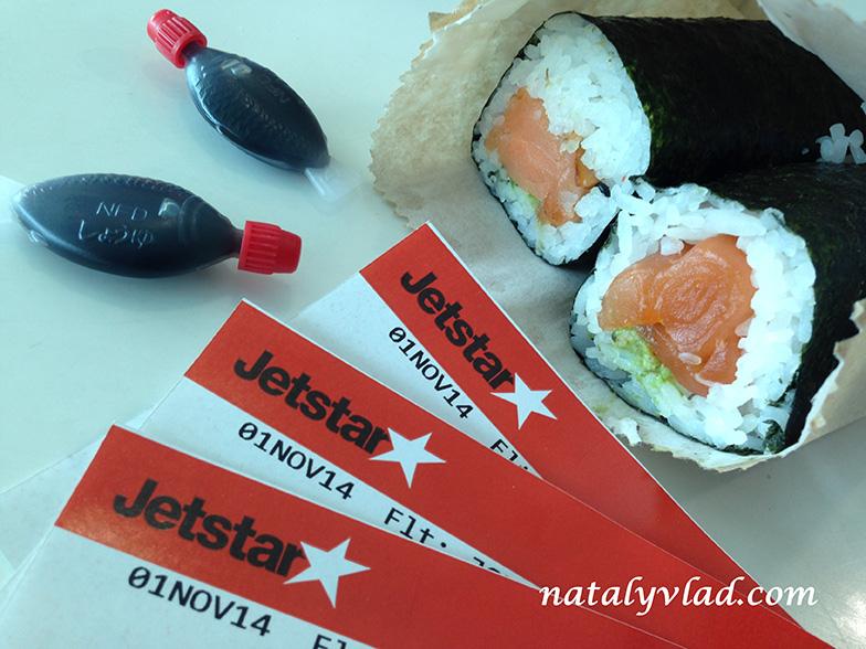 Билеты авиакомпании Jetstar и суши