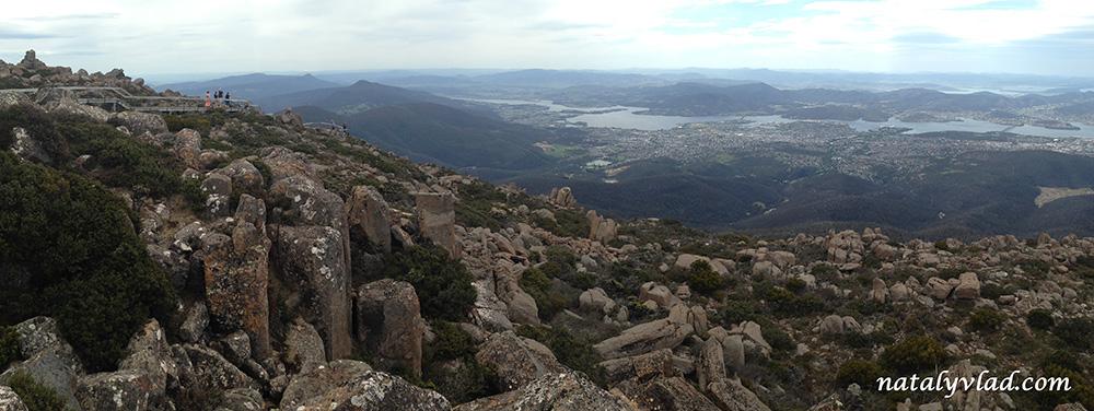 Тасмания Хобарт Гора Веллингтон виды на город