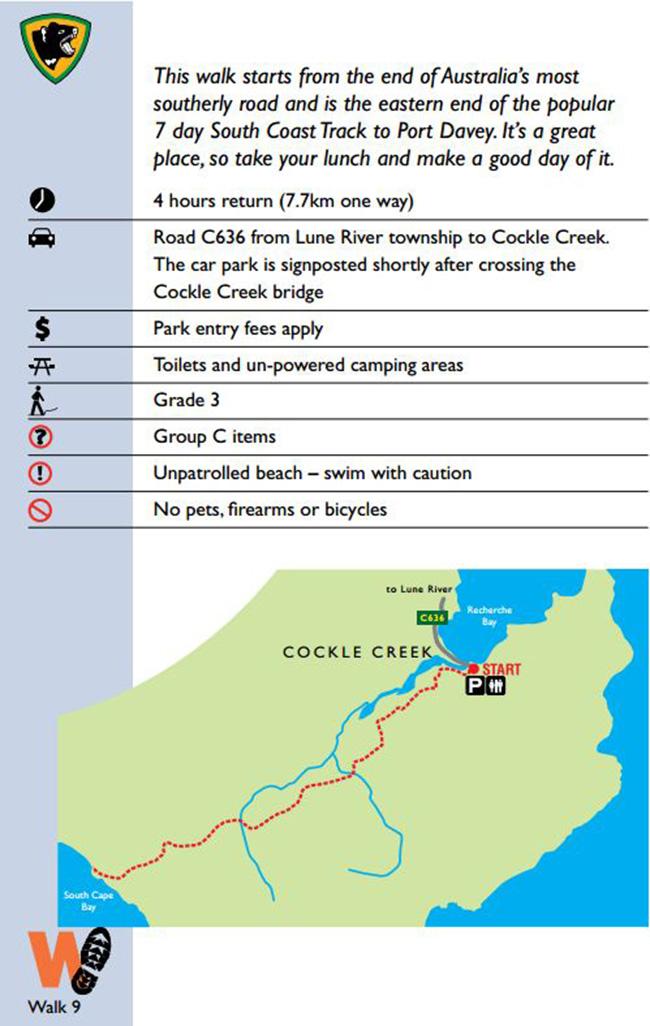 Пеший маршрут на Тасмании South Cape Bay
