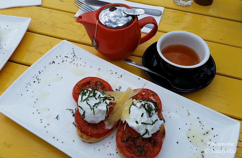 Австралия Кафе в Порт Мельбурне Завтрак