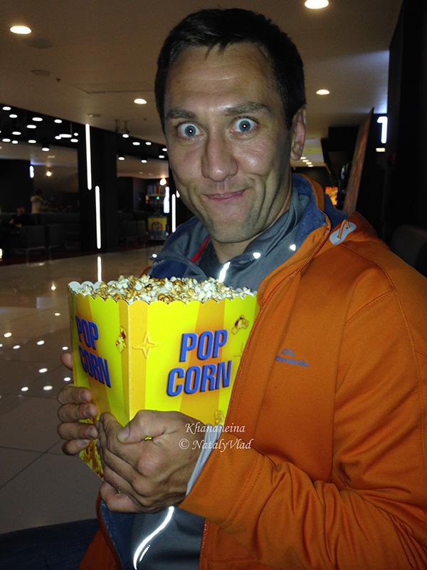 Сладкий попкорн в кинотеатрах